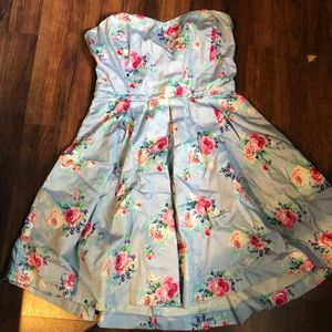 Heart shaped floral dress